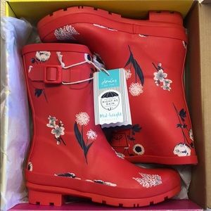 JOULES Molly Welly Red Boot. Size 7